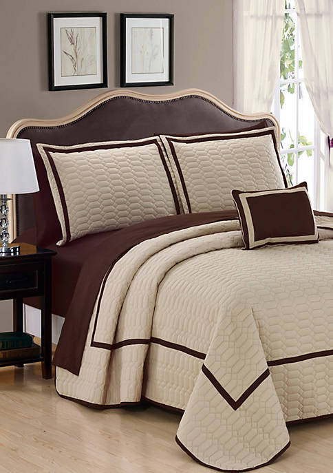 Chic Home Mesa Quilt Set- Beige