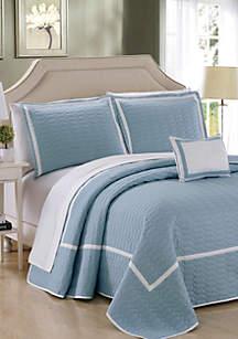 Chic Home Mesa Quilt Set- Blue