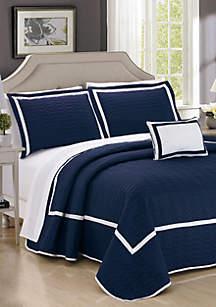 Chic Home Mesa Quilt Set- Navy
