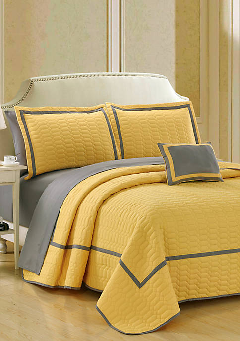 Chic Home Mesa Quilt Set- Yellow