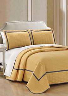 Chic Home Birmingham Quilt Set- Yellow