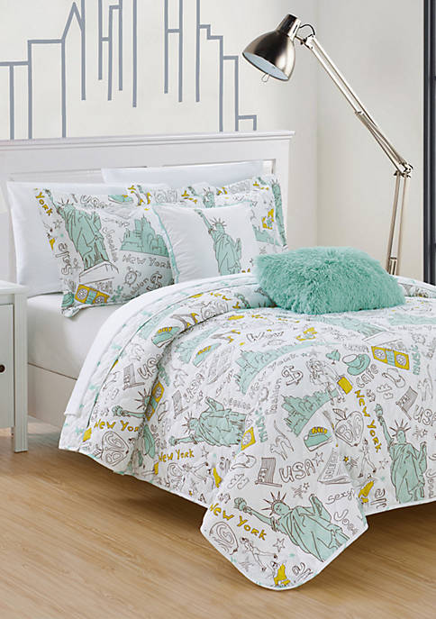 Chic Home New York Quilt Set