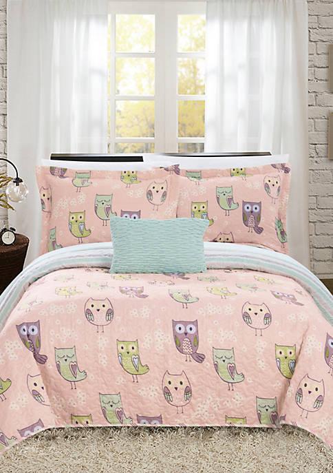 Owl Farm Quilt Set