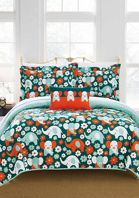 Chic Home Elephant Marsh Quilt Set