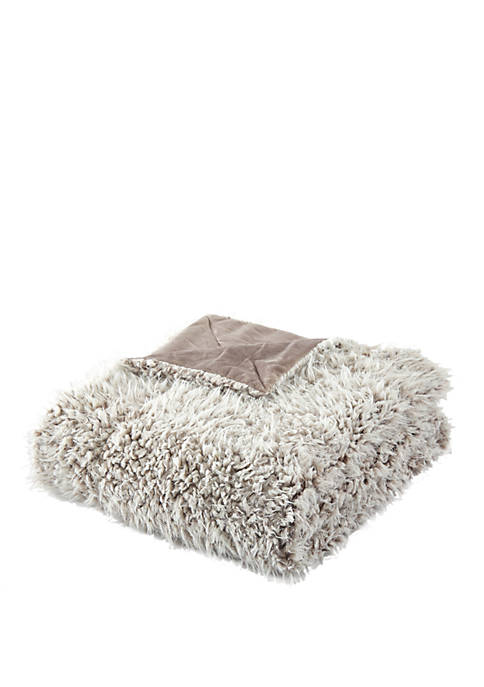 Lambs Hill Sherpa Blanket and Throw Pillow Set