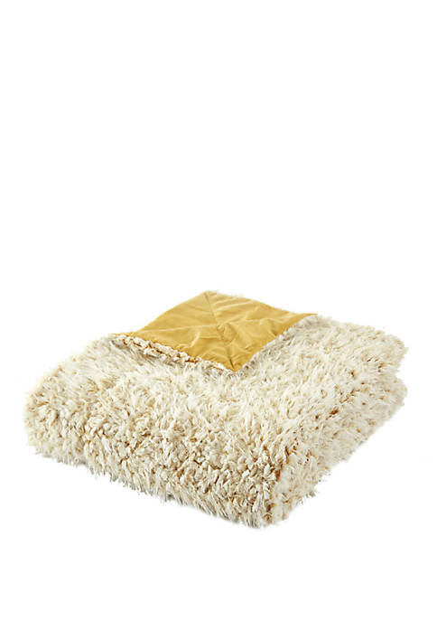 Chic Home Lambs Hill Sherpa Blanket and Throw