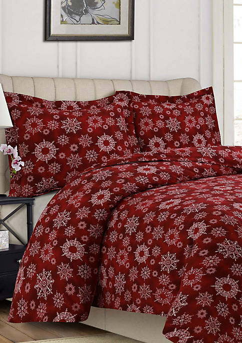 200-GSM Printed or Solid Flannel Duvets