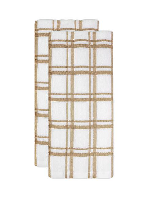 Windowpane Towels- Set of 2
