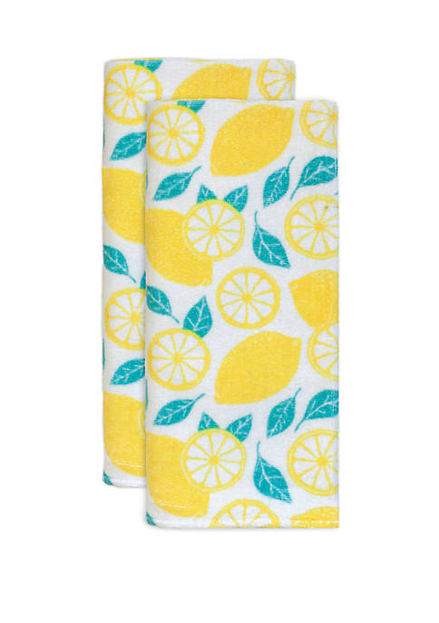 Lemons Fiber Reactive 2 Pack Kitchen Towels