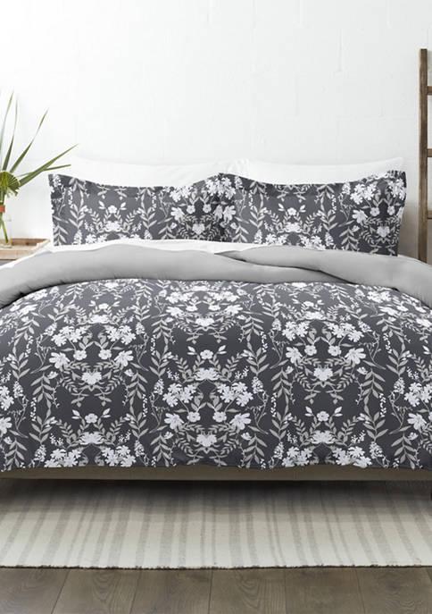 Premium Ultra Soft Secret Garden Pattern 3 Piece Reversible Duvet Cover Set