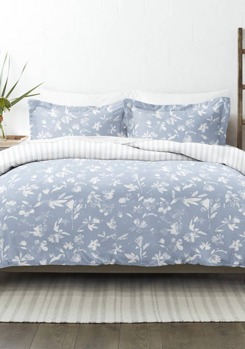 Premium Ultra Soft Country Home Pattern 3 Piece Reversible Duvet Cover Set