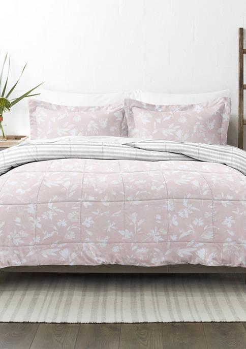Premium Down Alternative Pressed Flowers Reversible Comforter Set