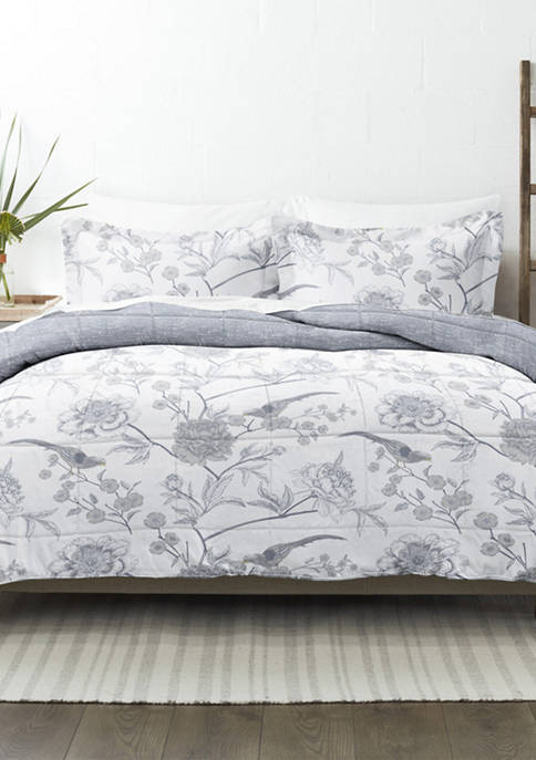 Premium Down Alternative Molly Botanicals Reversible Comforter Set