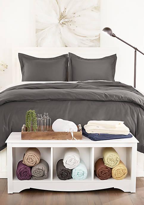 Sharon Osbourne Home Luxury Ultra Soft 3 Piece Solid Duvet Cover Set Belk
