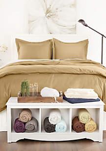 Sharon Osbourne Home Luxury Ultra Soft 3 Piece Solid Duvet Cover Set