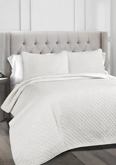 Lush Decor Ava Diamond Oversized Cotton 3-Piece Quilt