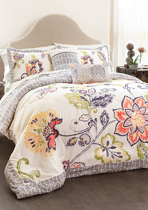 Lush Decor Aster Quilted Comforter 5-Piece Set