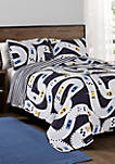 Twin Car Tracks Quilt Set
