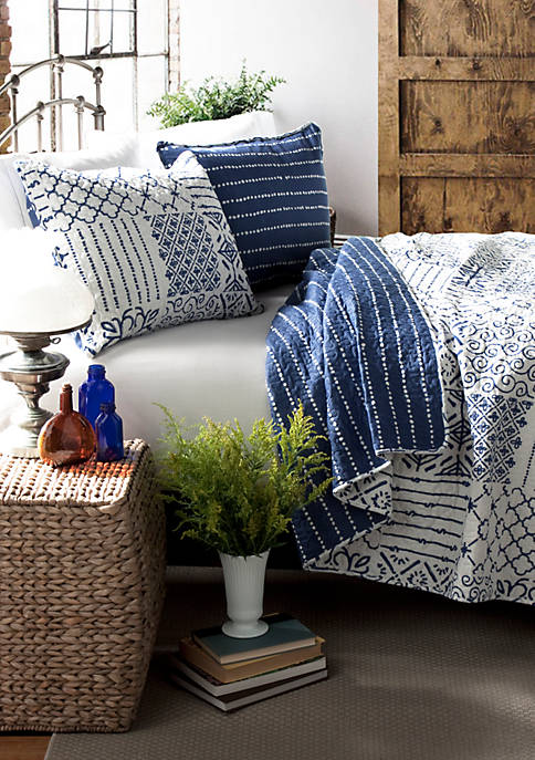 Lush Decor Monique Reversible King Quilt Set