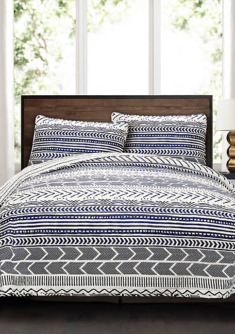Lush Decor Hygge Geo Reversible Quilt Set