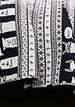 Llama Stripe Reversible Quilt Set