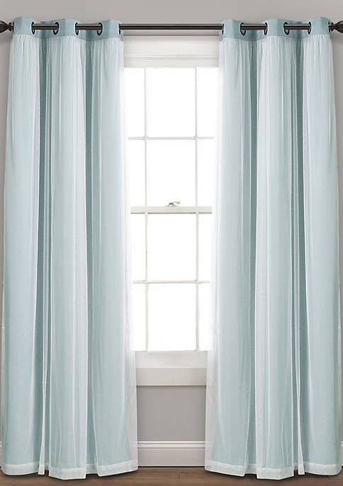 Grommet Sheer Insulated Blackout Lining Window Panel Set