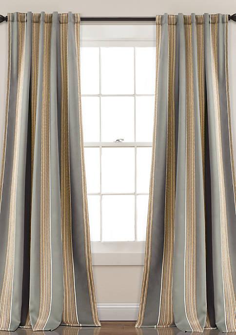 Julia Stripe Window Panel Set