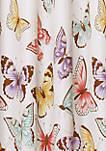 Flutter Butterfly Window Curtain Pink Set