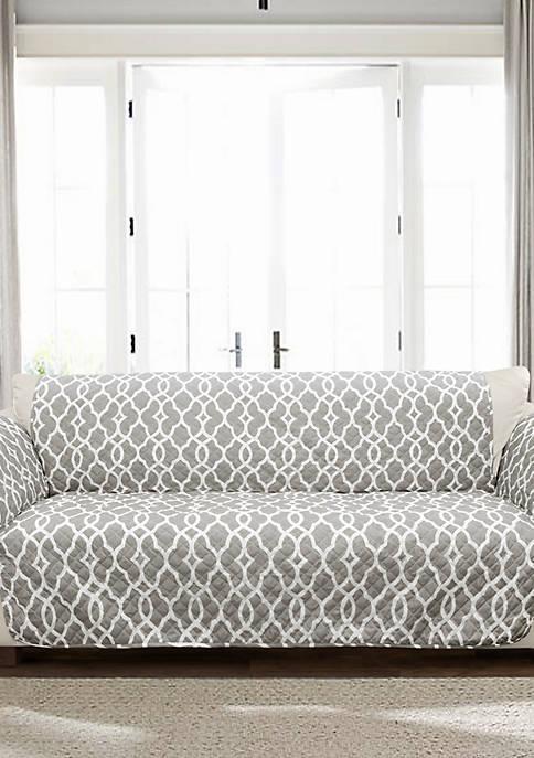 Lush Decor Connor Geo Sofa Slip Cover