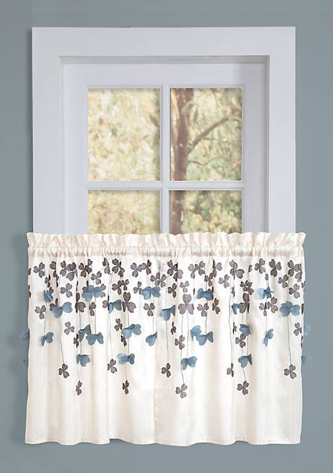 Lush Decor Flower Drops Kitchen Tier Valance