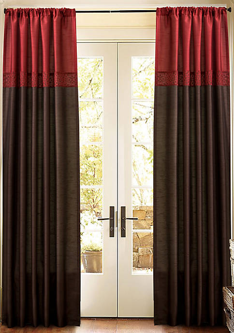 Geometrica Red Window Curtain Set 54 in x 84 in