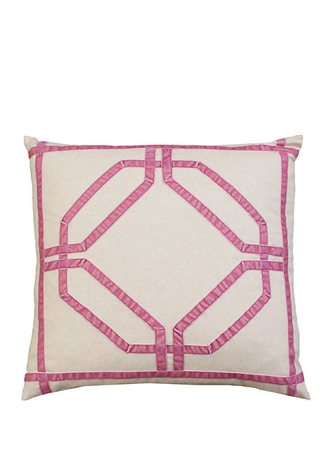 Pink Kate Ribbon Throw Pillow