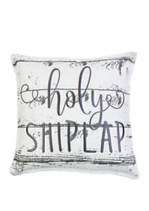 Thro by Marlo Lorenz Holy Shiplap Embroidered Pillow