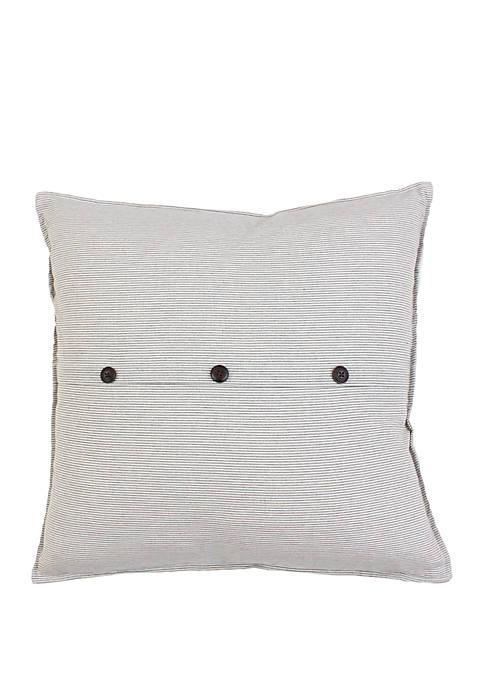 Melisa Stripe Button Pillow