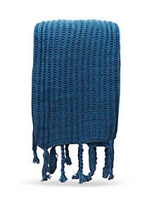 Thro by Marlo Lorenz Knit Tassel Throw