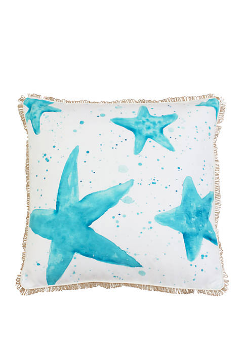 Samaria Starfish Faux Linen Pillow