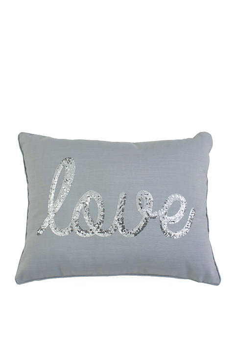 Sequin Home Faux Linen Pillow