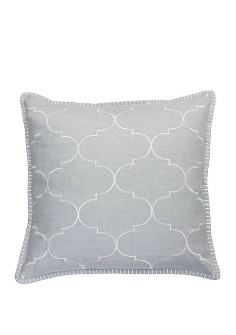 Thro by Marlo Lorenz Ava Whipstitch Embroidered Pillow