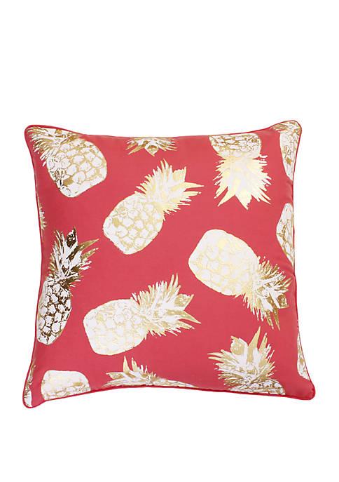 Saugus Pineapple Raised Foil Printed Pillow