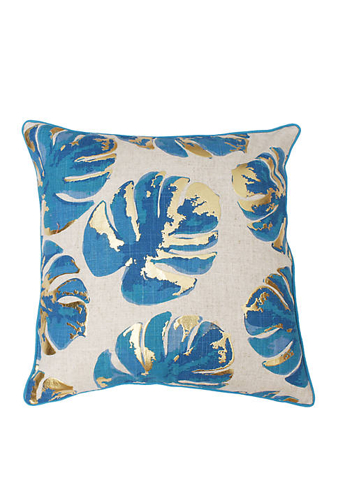 Wallace Gold Foil Printed Leaf Pillow