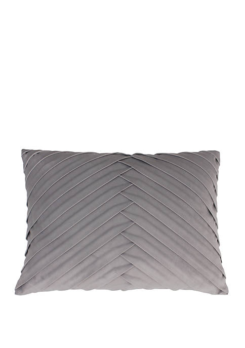 Thro by Marlo Lorenz James Pleated Velvet Pillow