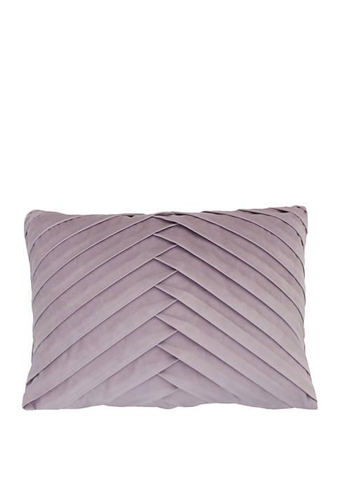 Thro by Marlo Lorenz James Pleated Velvet Pillow