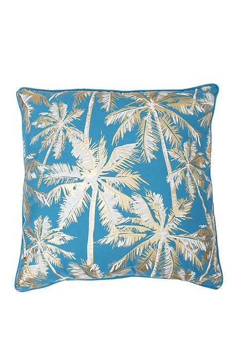 Pokki Gold Foil Printed Palm Tree Pillow