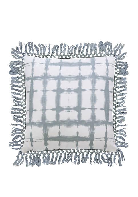 Denver Shibori Fringe Trim Pillow