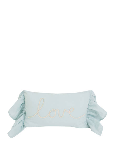 Lismond Love Script Rope Pillow