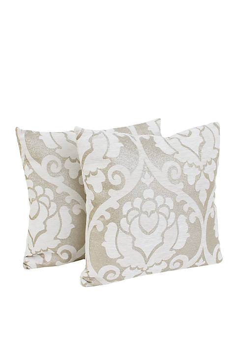 Set of 2 Grace Chenille Throw Pillows
