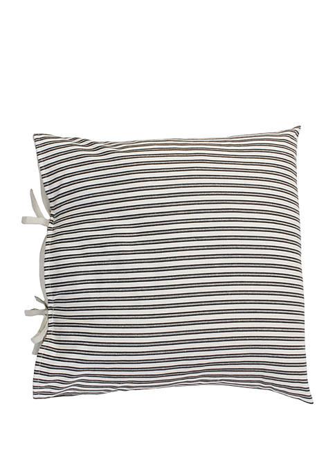 Tina Ticking Stripe Tie Pillow