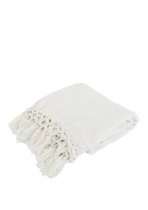Dede Chenille Crochet Fringe Decorative Throw