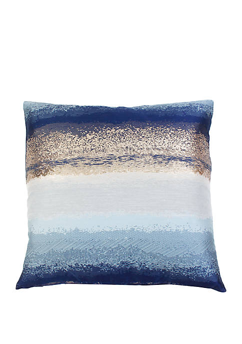 Striped Jacquard Metallic Pillow