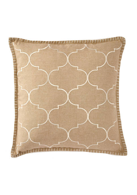 18 in x 18 in Whipstitch Embroidered Pillow